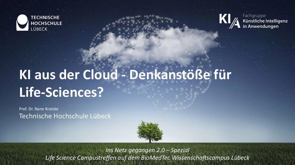 KI aus der Cloud - Denkanstöße für Life-Science...