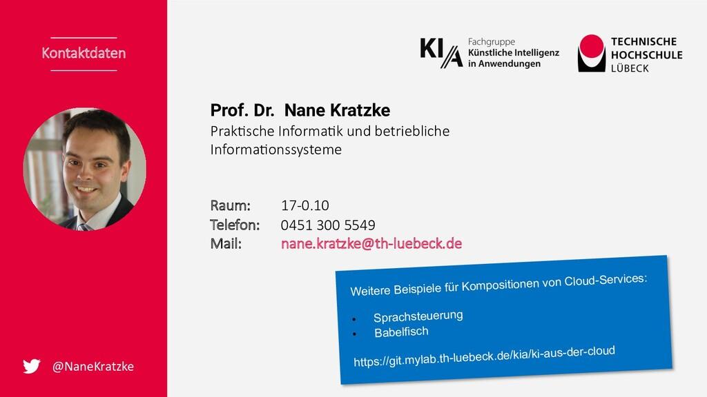 Prof. Dr. Nane Kratzke Prak%sche Informa%k und ...