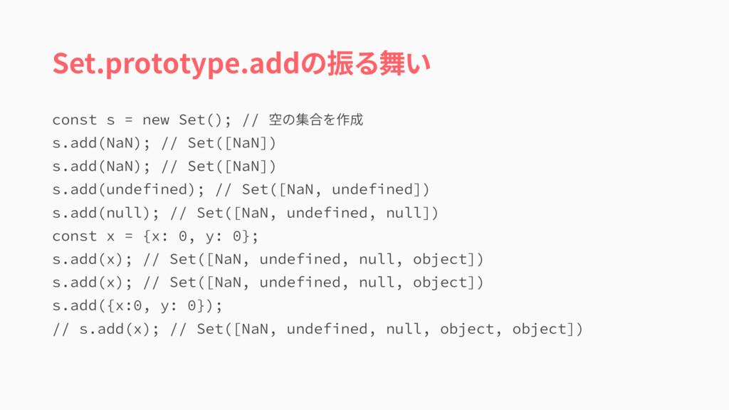 Set.prototype.addの振る舞い DPOTUTOFX4FU  ...