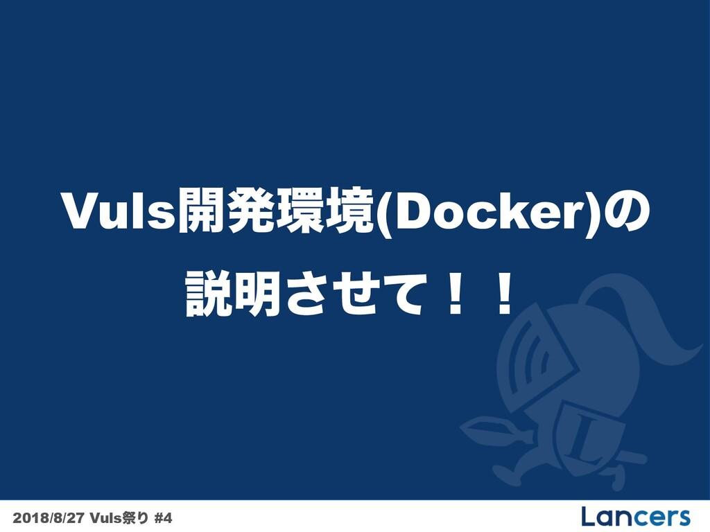 2018/8/27 VulsࡇΓ #4 Vuls։ൃڥ(Docker)ͷ આ໌ͤͯ͞ʂʂ