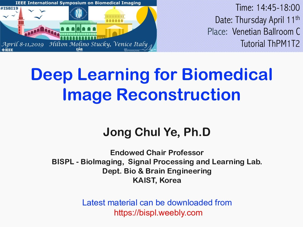 Deep Learning for Biomedical Image Reconstructi...