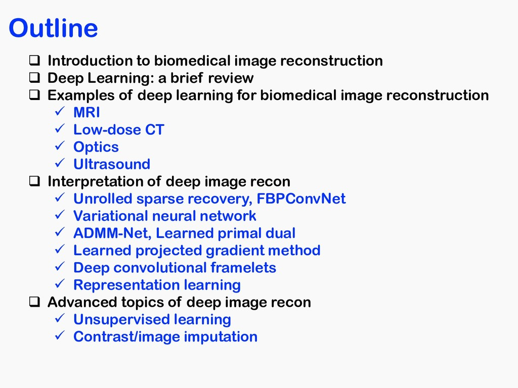 Outline q Introduction to biomedical image reco...