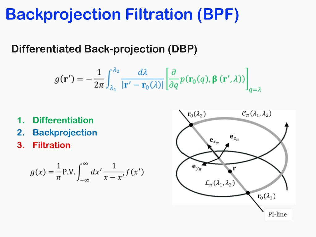 Differentiated Back-projection (DBP) 1. Differe...
