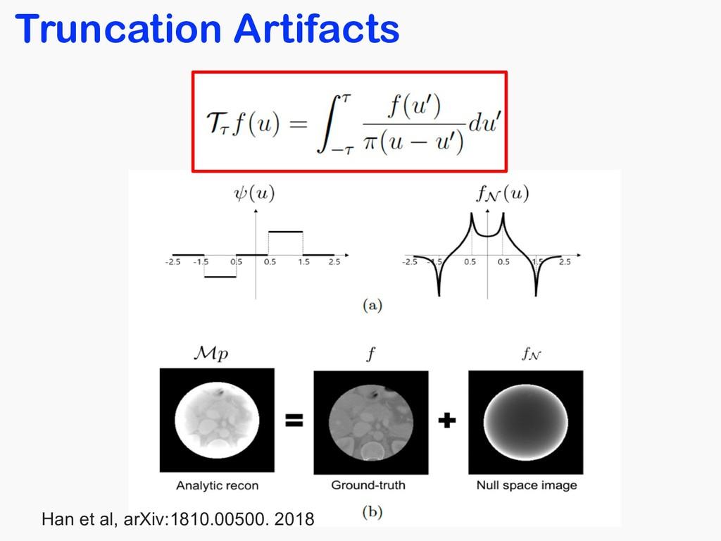 Truncation Artifacts Han et al, arXiv:1810.0050...