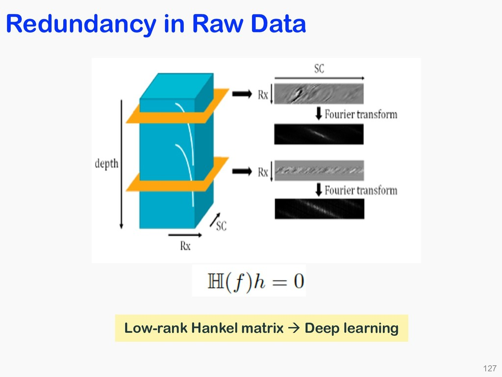 Redundancy in Raw Data 127 Low-rank Hankel matr...