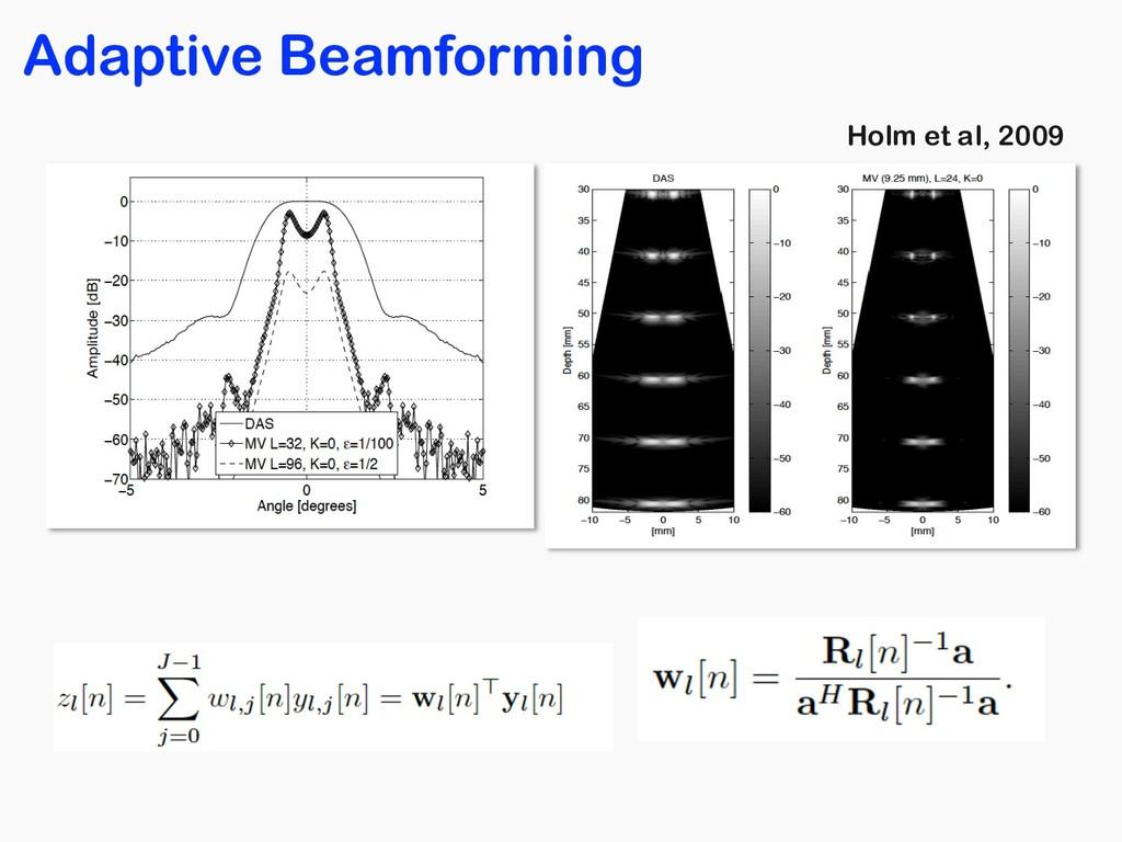 Adaptive Beamforming Holm et al, 2009