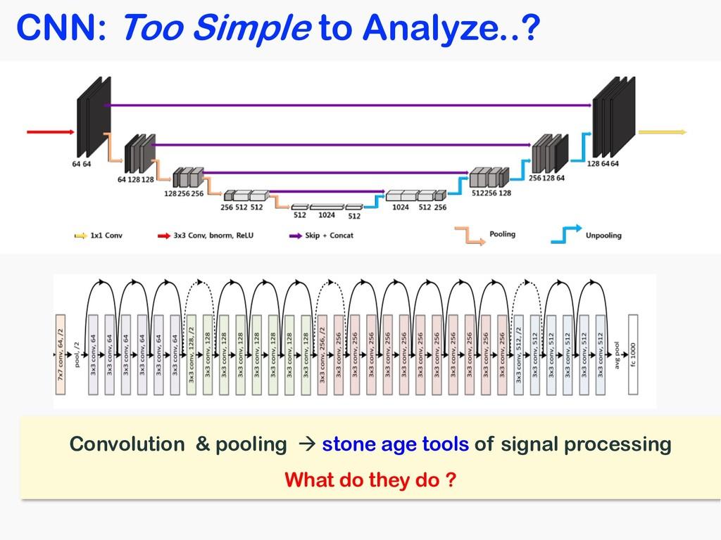 CNN: Too Simple to Analyze..? Convolution & poo...