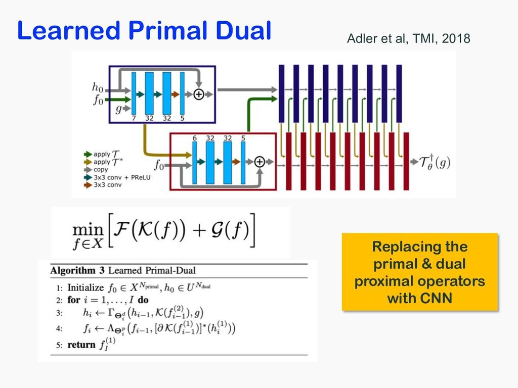 Learned Primal Dual Adler et al, TMI, 2018 Repl...