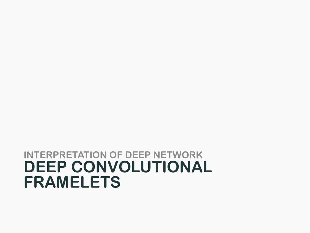 INTERPRETATION OF DEEP NETWORK DEEP CONVOLUTION...