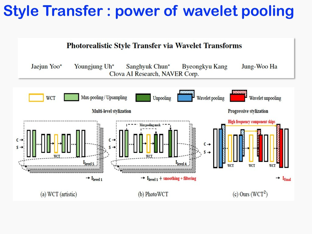 Style Transfer : power of wavelet pooling
