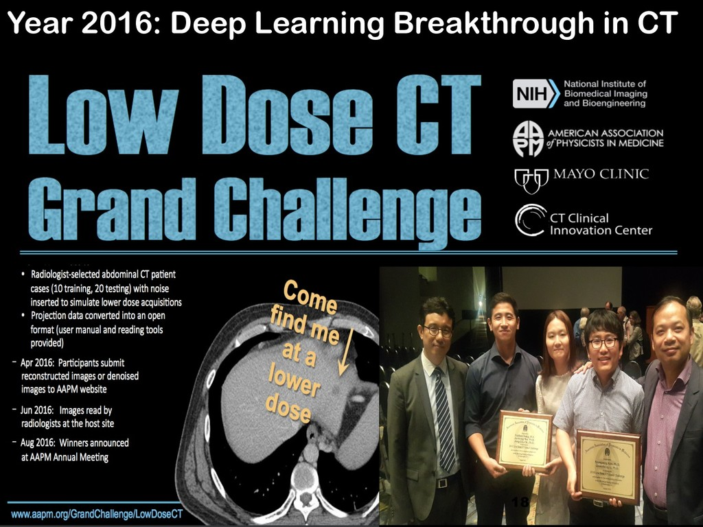 18 Year 2016: Deep Learning Breakthrough in CT