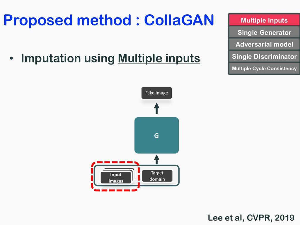 Proposed method : CollaGAN • Imputation using M...