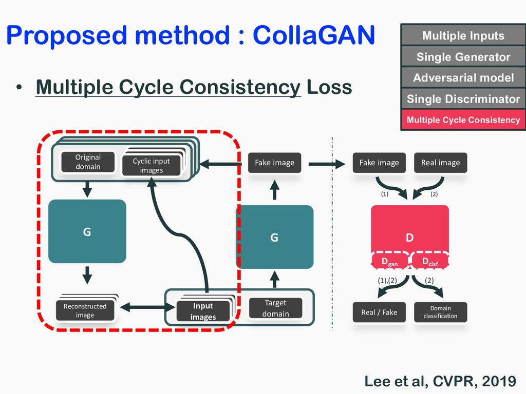 • Multiple Cycle Consistency Loss Input images ...