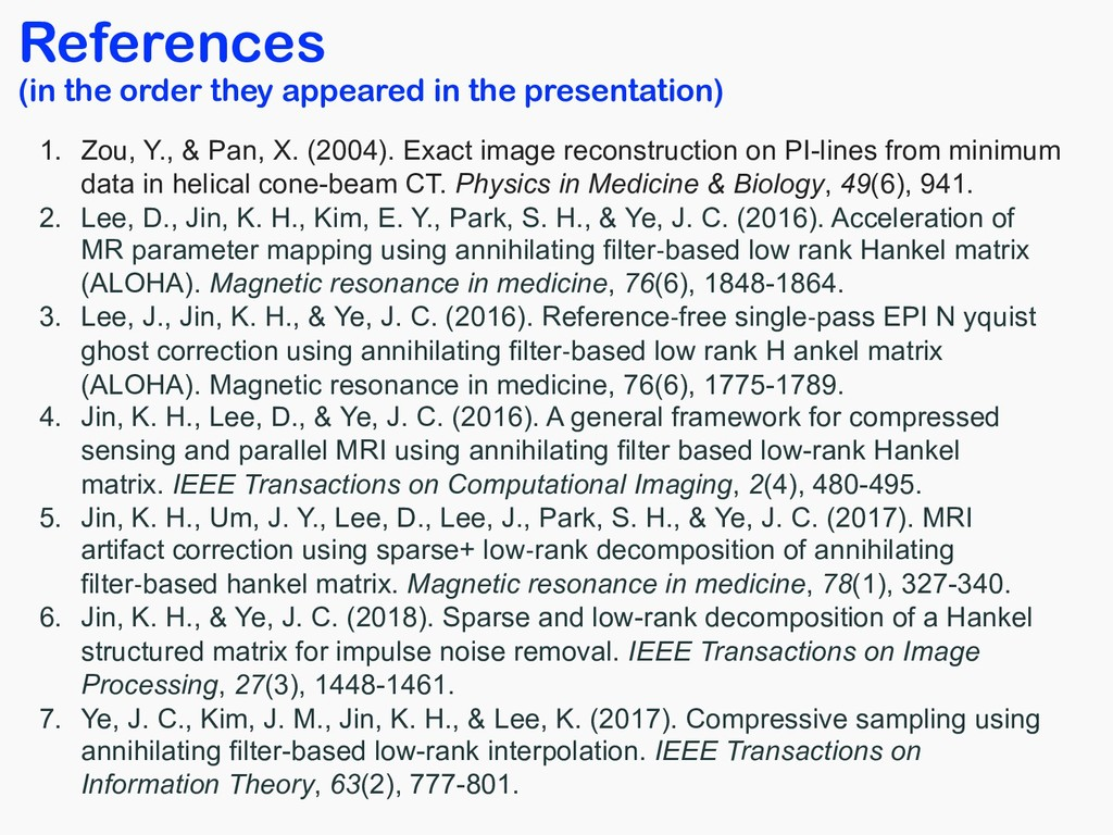 References (in the order they appeared in the p...