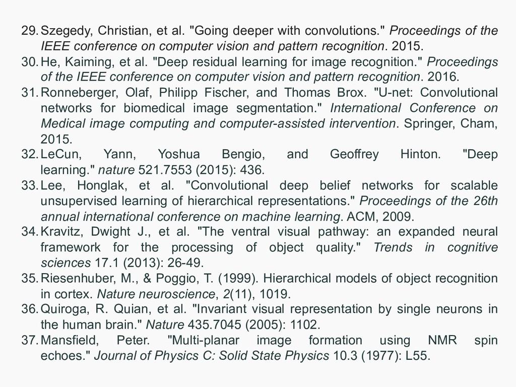 "29.Szegedy, Christian, et al. ""Going deeper wit..."