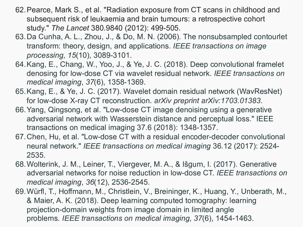 "62.Pearce, Mark S., et al. ""Radiation exposure ..."