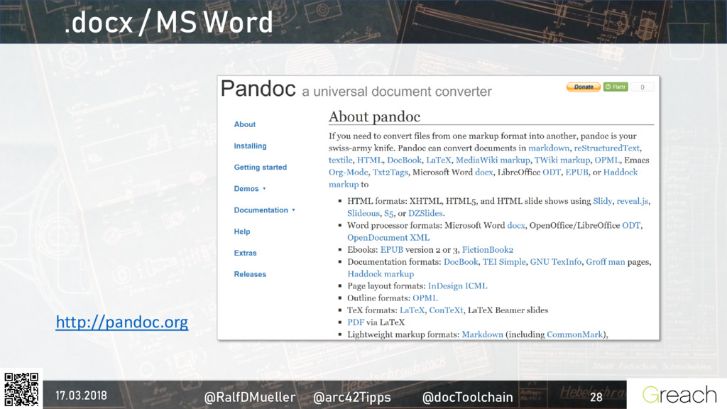 .docx / MS Word http://pandoc.org 17.03.2018 @R...