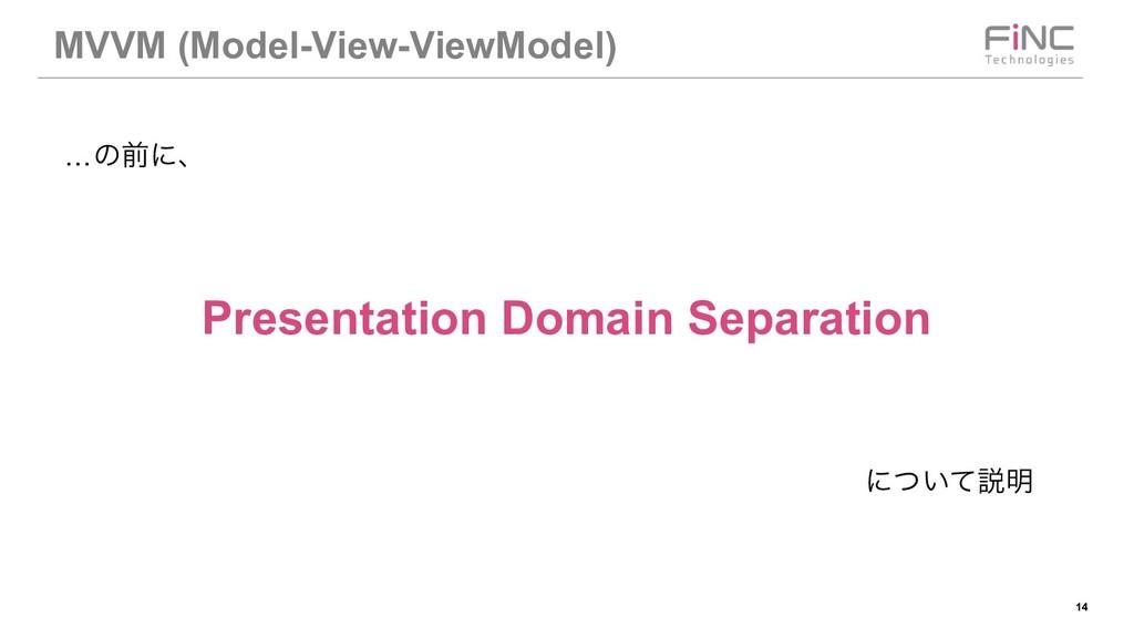!14 MVVM (Model-View-ViewModel) …ͷલʹɺ Presentat...