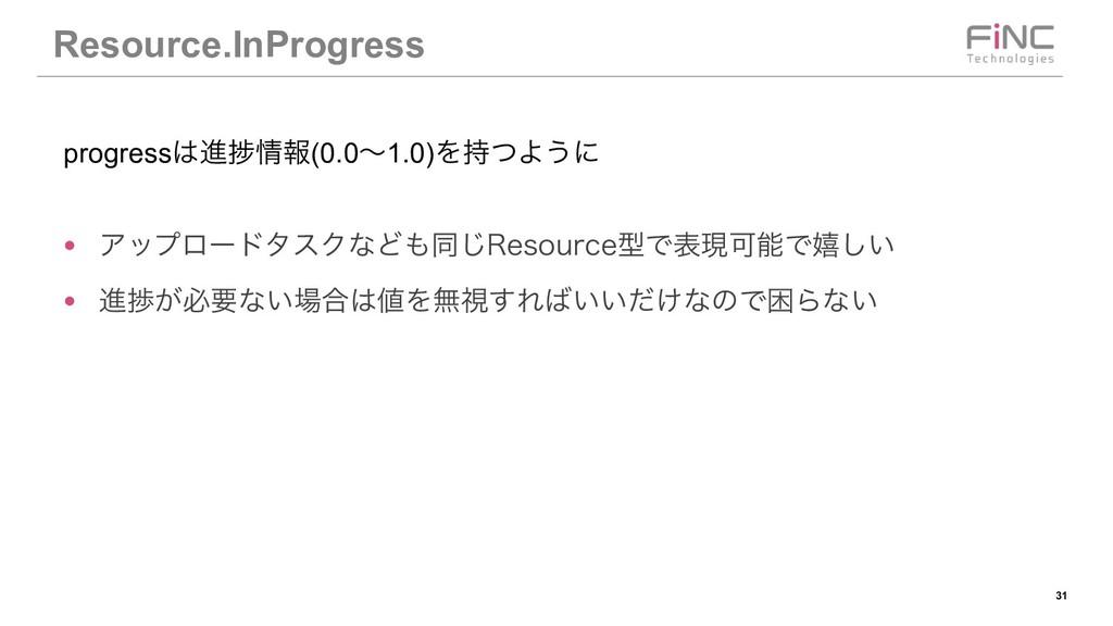 !31 Resource.InProgress ● ΞοϓϩʔυλεΫͳͲಉ͡3FTPVSD...
