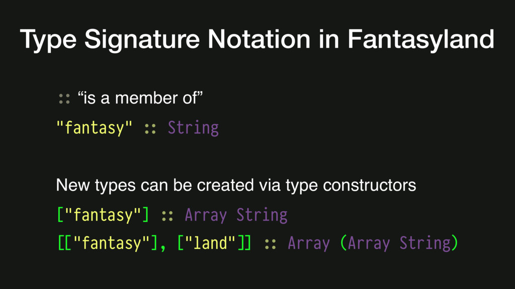 """#:: """"is a member of"""" """"fantasy"""" #:: String New t..."""