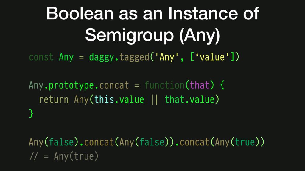 const Any = daggy.tagged('Any', ['value']) Any....