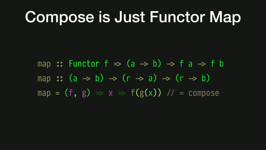 Compose is Just Functor Map map #:: Functor f #...