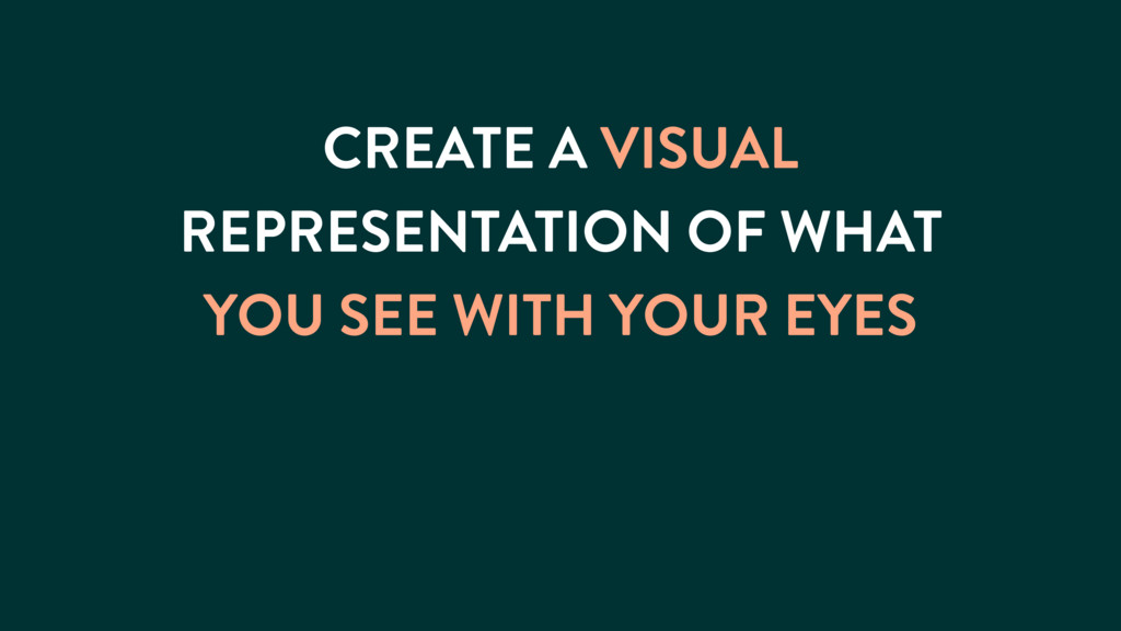 CREATE A VISUAL REPRESENTATION OF WHAT YOU SEE ...