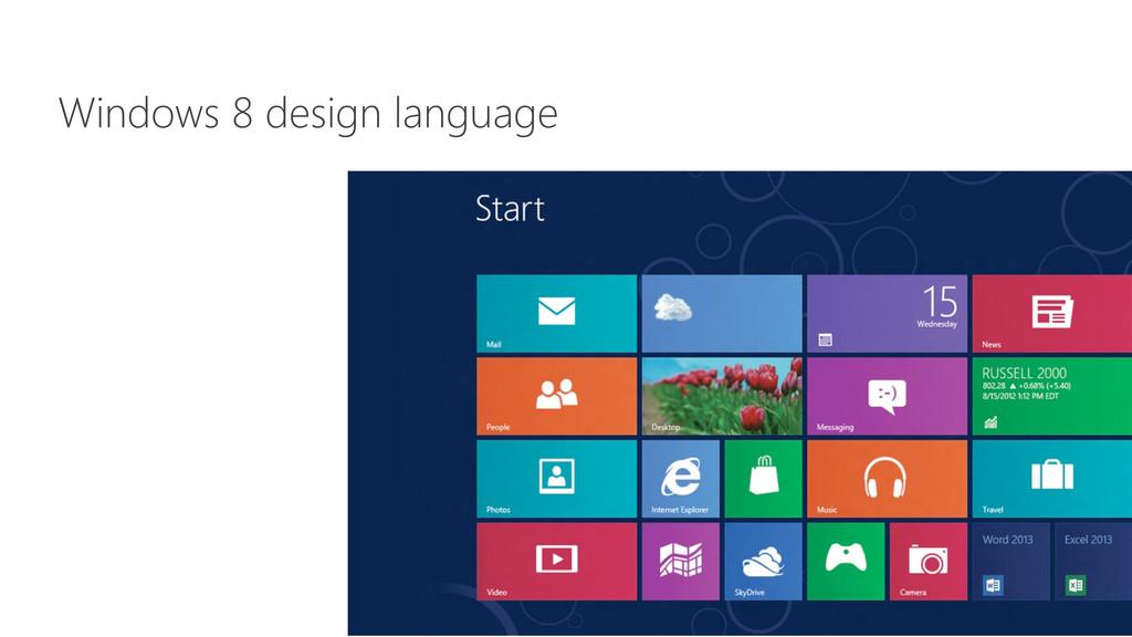 Windows 8 design language