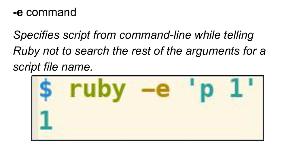 -e command Specifies script from command-line w...