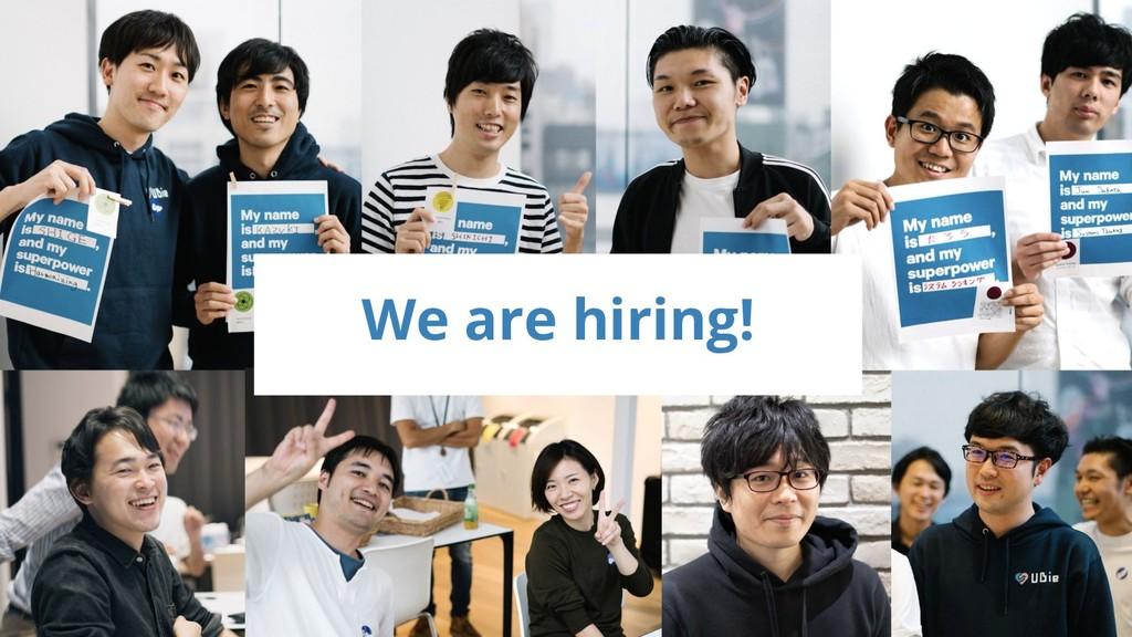 © 2018 Ubie, Inc. We are hiring!