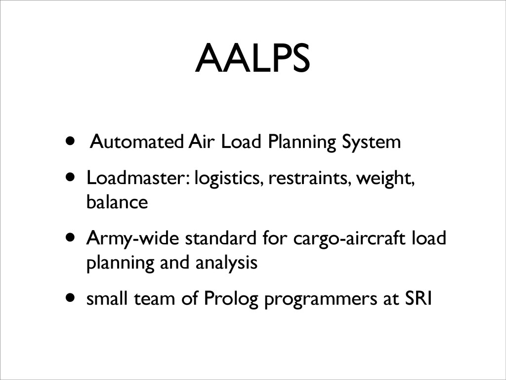 AALPS • Automated Air Load Planning System • Lo...