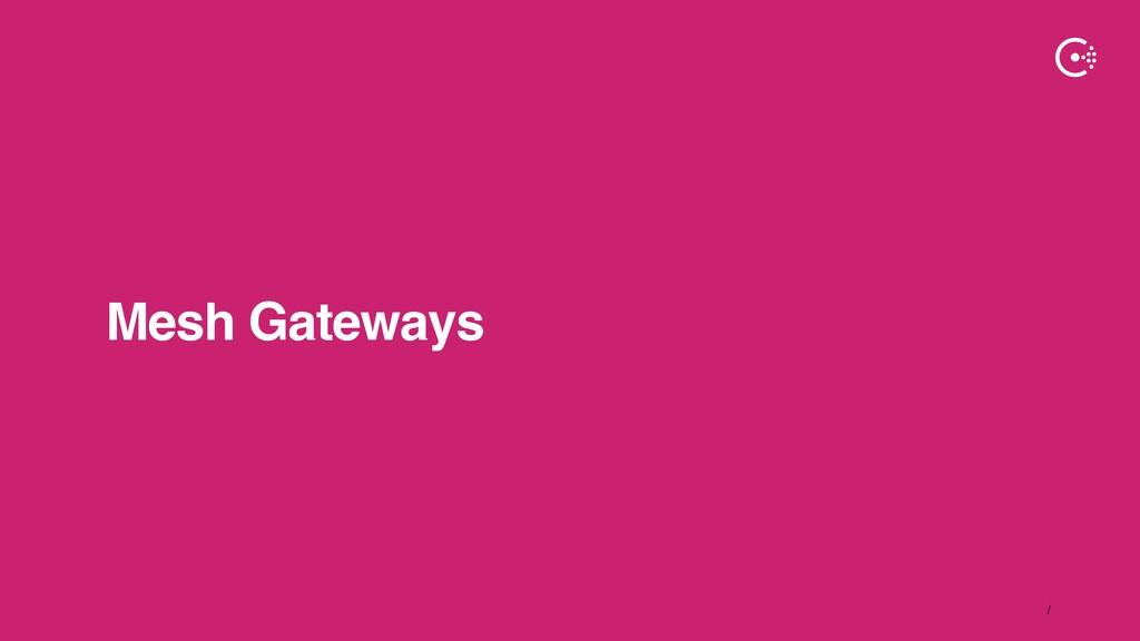 ∕ Mesh Gateways