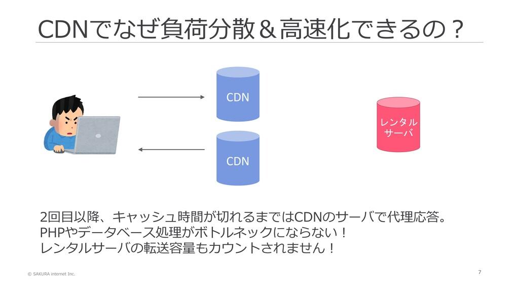 © SAKURA internet Inc. 7 CDNでなぜ負荷分散&高速化できるの? CD...