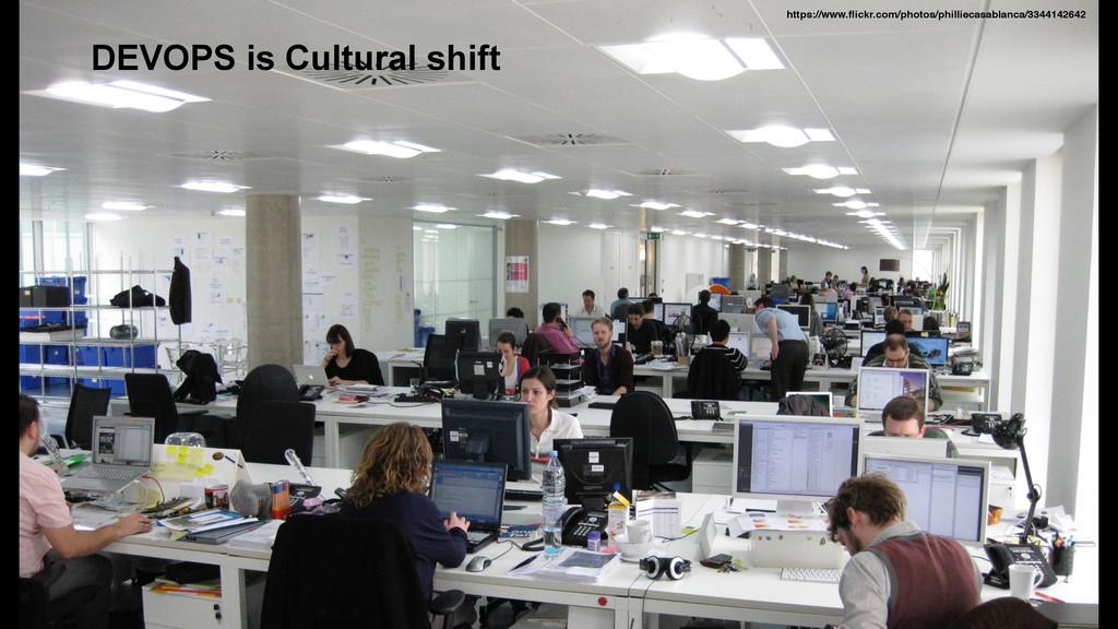 DEVOPS is Cultural shift https://www.flickr.com/...