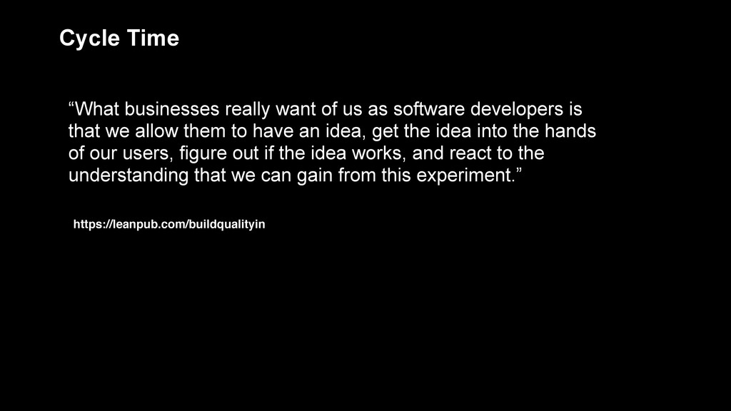 """""""What businesses really want of us as software ..."""