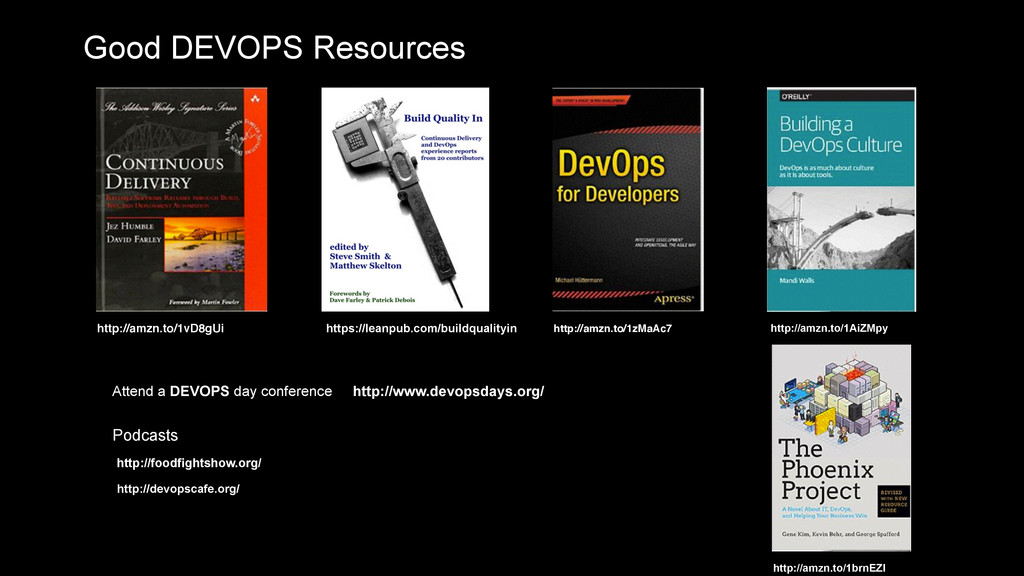 Good DEVOPS Resources https://leanpub.com/build...