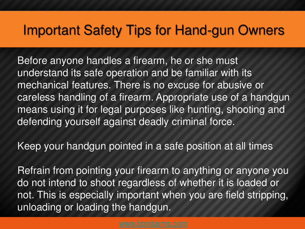 Important Safety Tips for Hand-gun Owners www.b...