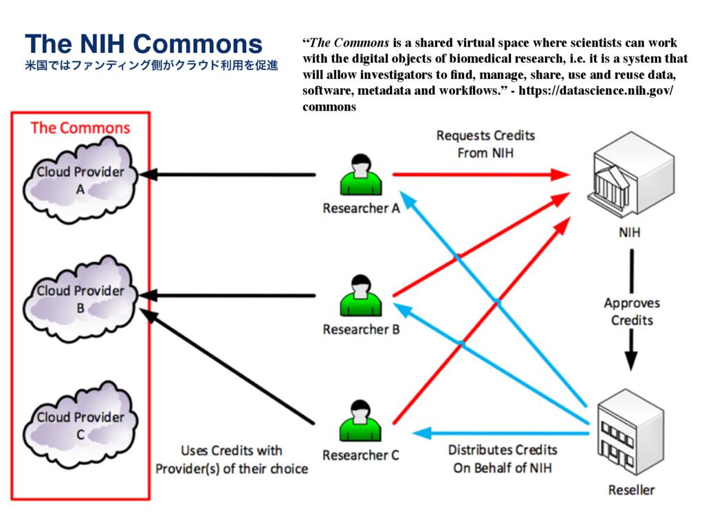 "The NIH Commons! ถࠃͰϑΝϯσΟϯάଆ͕Ϋϥυར༻Λଅਐ ""The Co..."