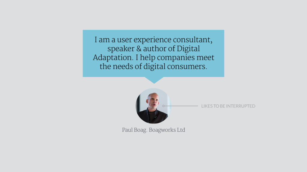 I am a user experience consultant, speaker & au...