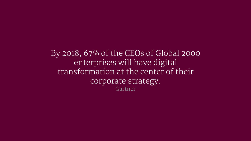 By 2018, 67% of the CEOs of Global 2000 enterpr...