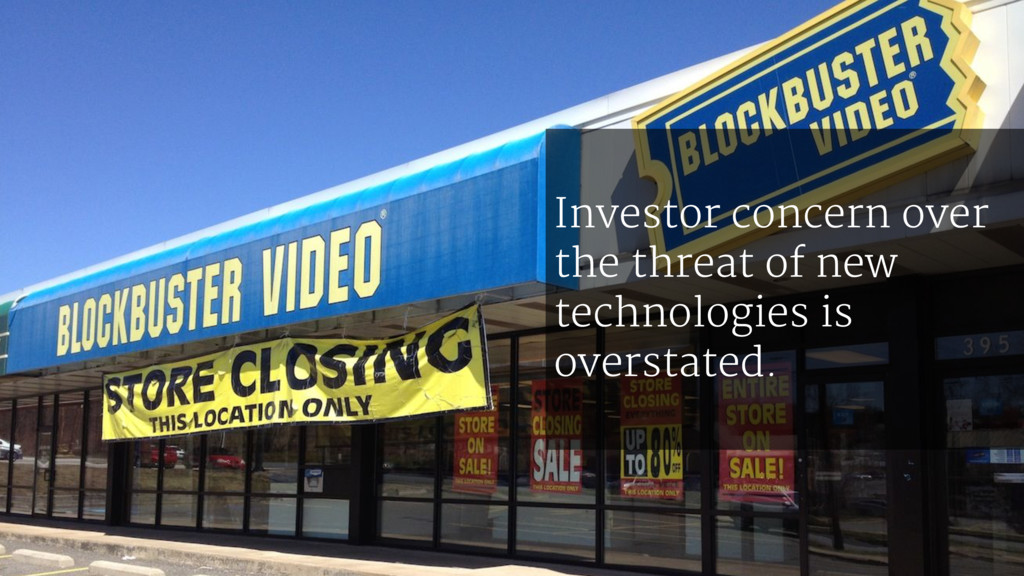 Investor concern over the threat of new technol...