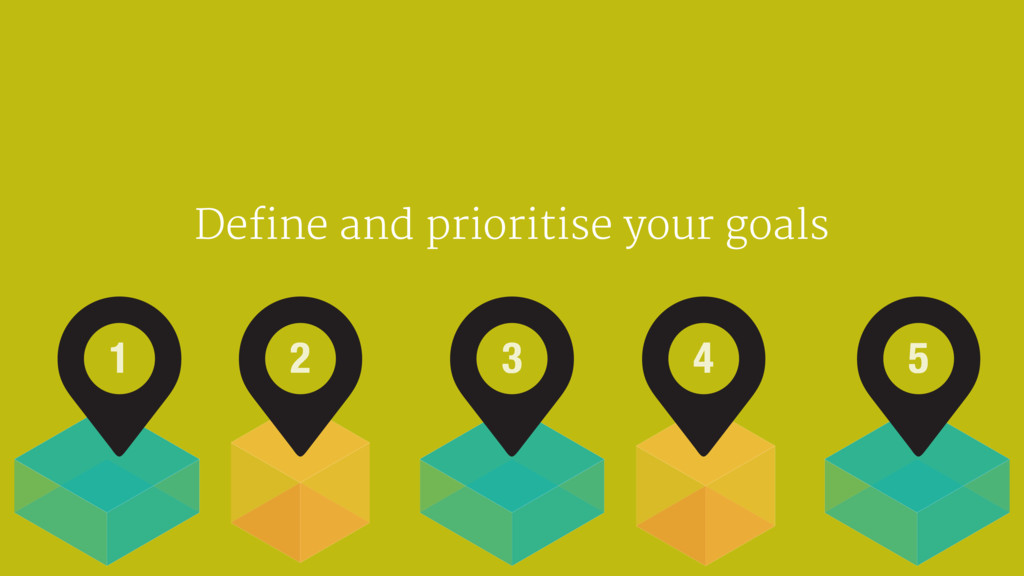 Define and prioritise your goals 1 2 3 4 5