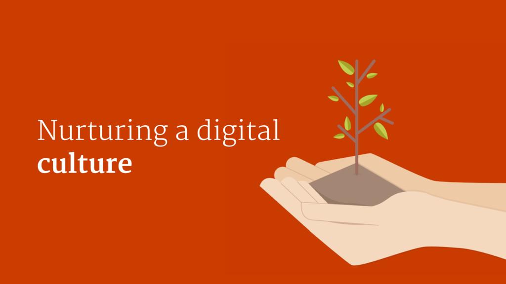 Nurturing a digital   culture