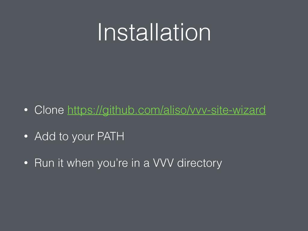 Installation • Clone https://github.com/aliso/v...