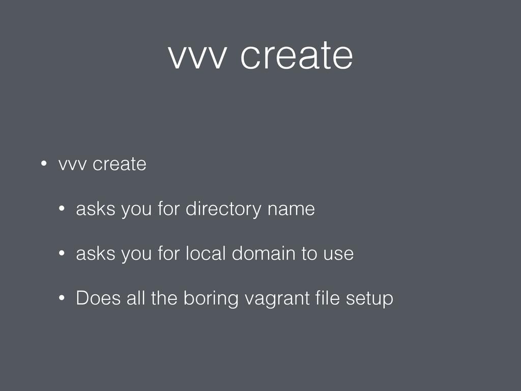 vvv create • vvv create • asks you for director...