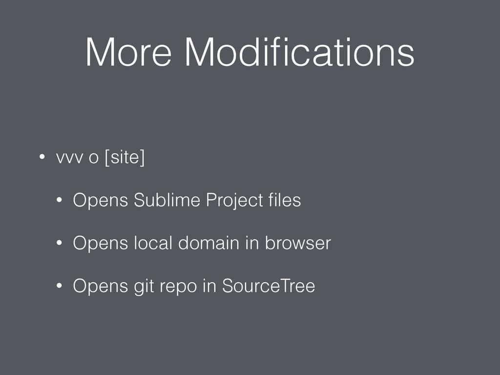 More Modifications • vvv o [site] • Opens Sublim...