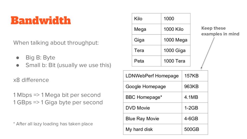 Bandwidth Kilo 1000 Mega 1000 Kilo Giga 1000 Me...