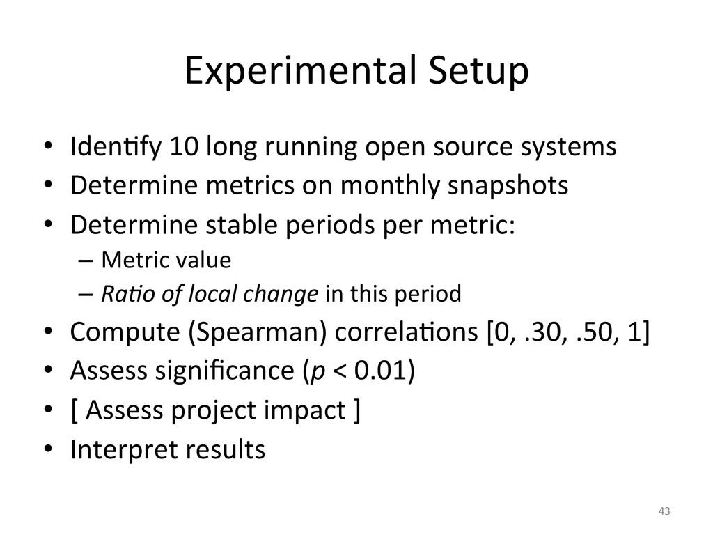 Experimental Setup  • IdenUfy 10 l...