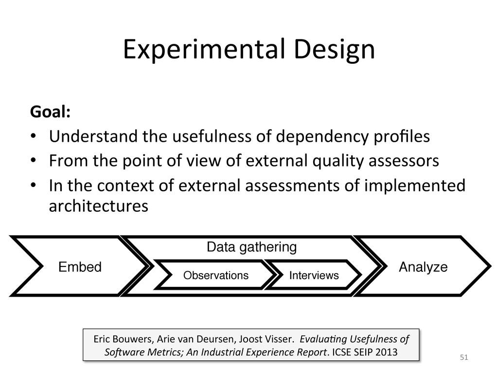 Experimental Design  Goal:  • Underst...