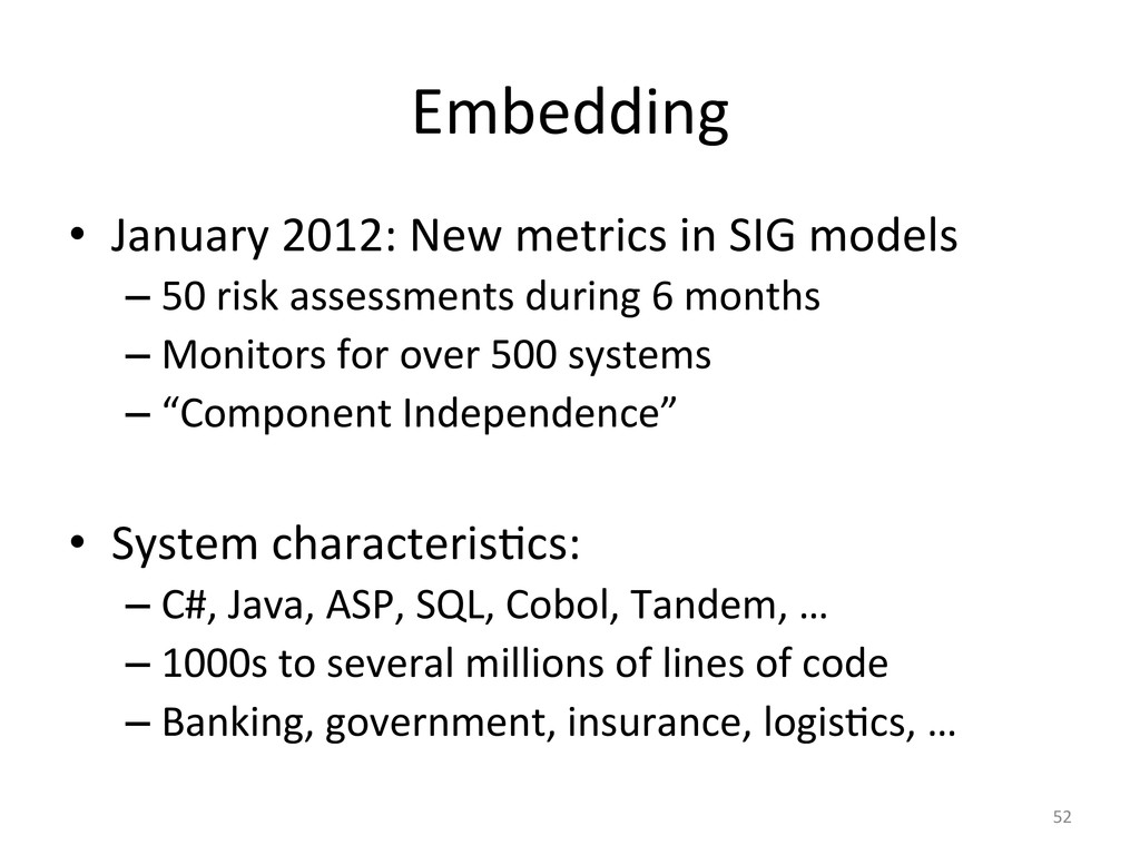 Embedding  • January 2012: New met...